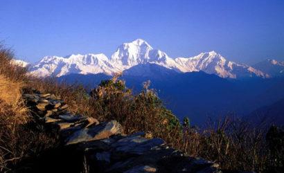 Dhaulagiri mountain view from ghorepani poonhill