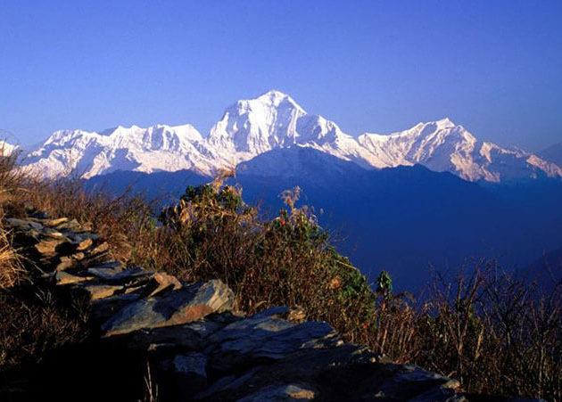 Dhaulagiri mountain view from ghorepani poonhill
